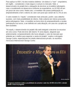 George Cunha na BBC News Brasil Visto EB5