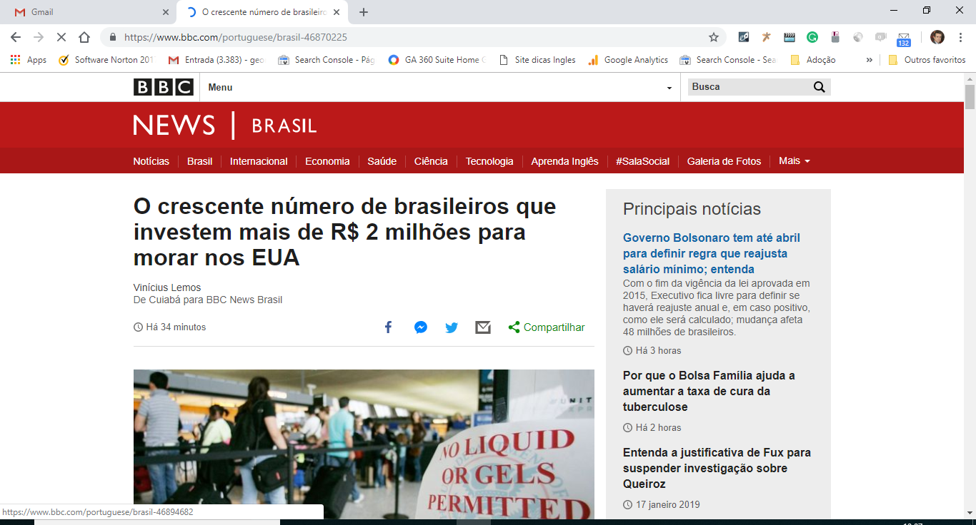Visto EB5-George Cunha na BBC News Brasil