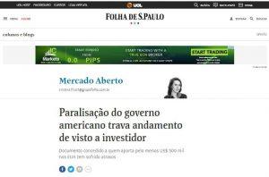 Visto EB5 George Cunha na Folha de São Paulo