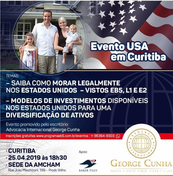 Evento EB5 Curitiba – 25 abril 2019