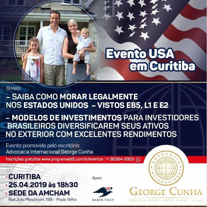 Evento EB5 em Curitiba – 25 abril 2019