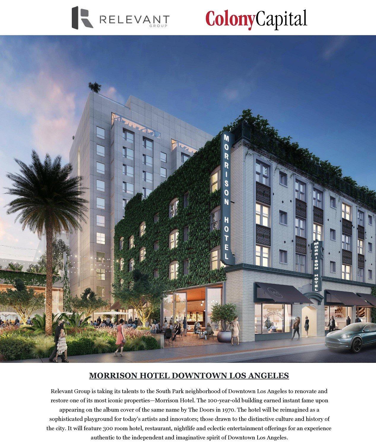 VISTO EB5 MORRISON HOTEL DOWNTOWN LOS ANGELES